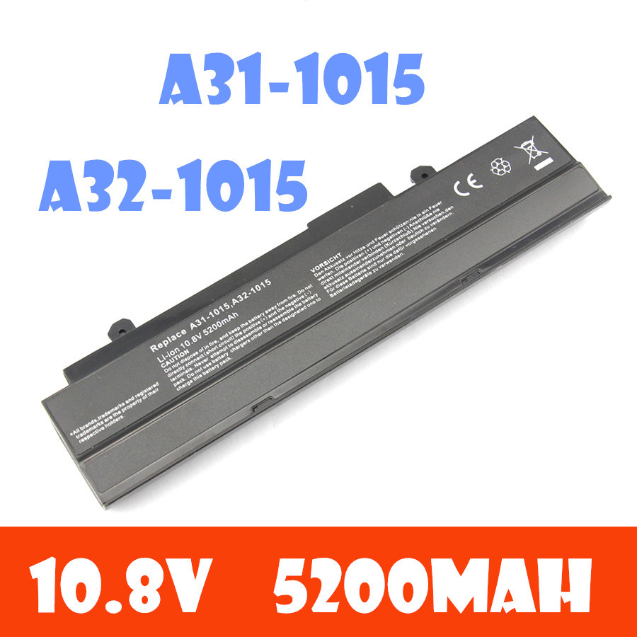 10.8V 5200mAh oem replacement laptop battery for ASUS Eee PC 1015 1015P 1015PE 1016P series Free shipping 1215 A31-1015 bateria(China (Mainland))