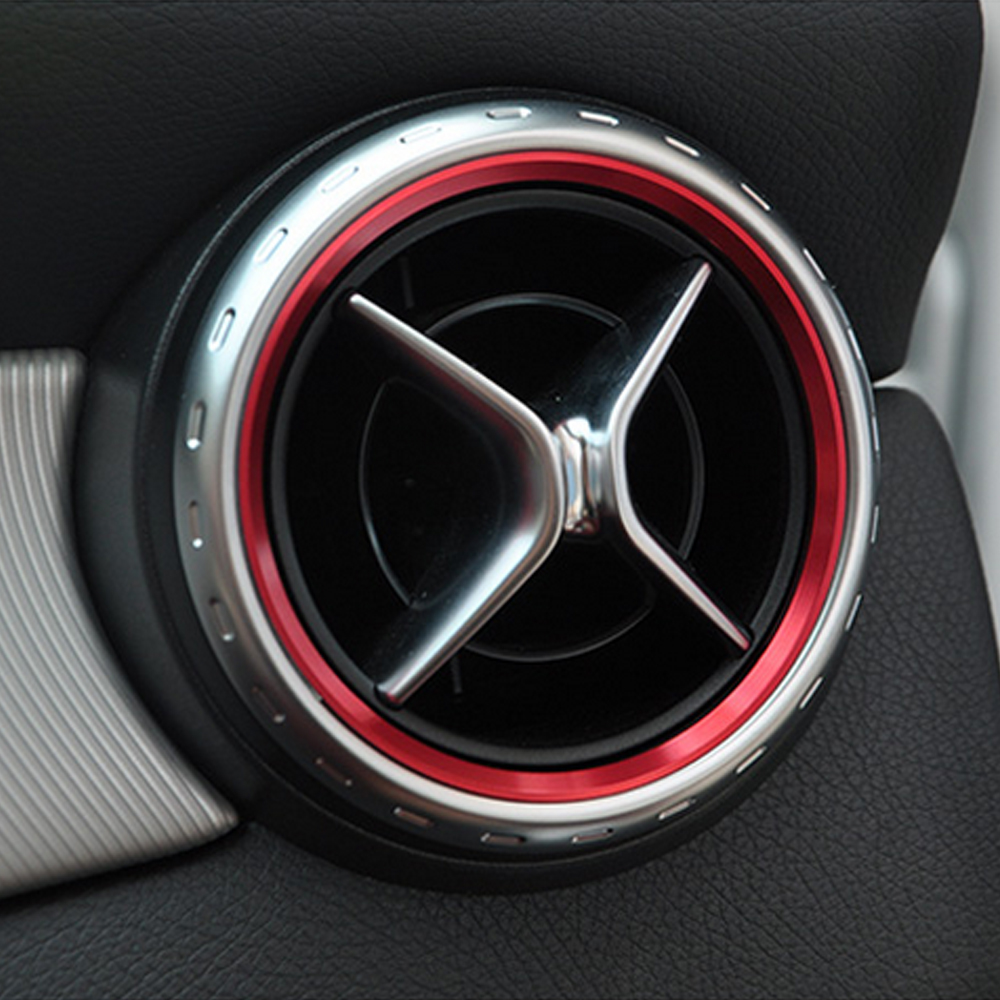 Car styling air condition air vent outlet ring cover trim for Mercedes benz ring