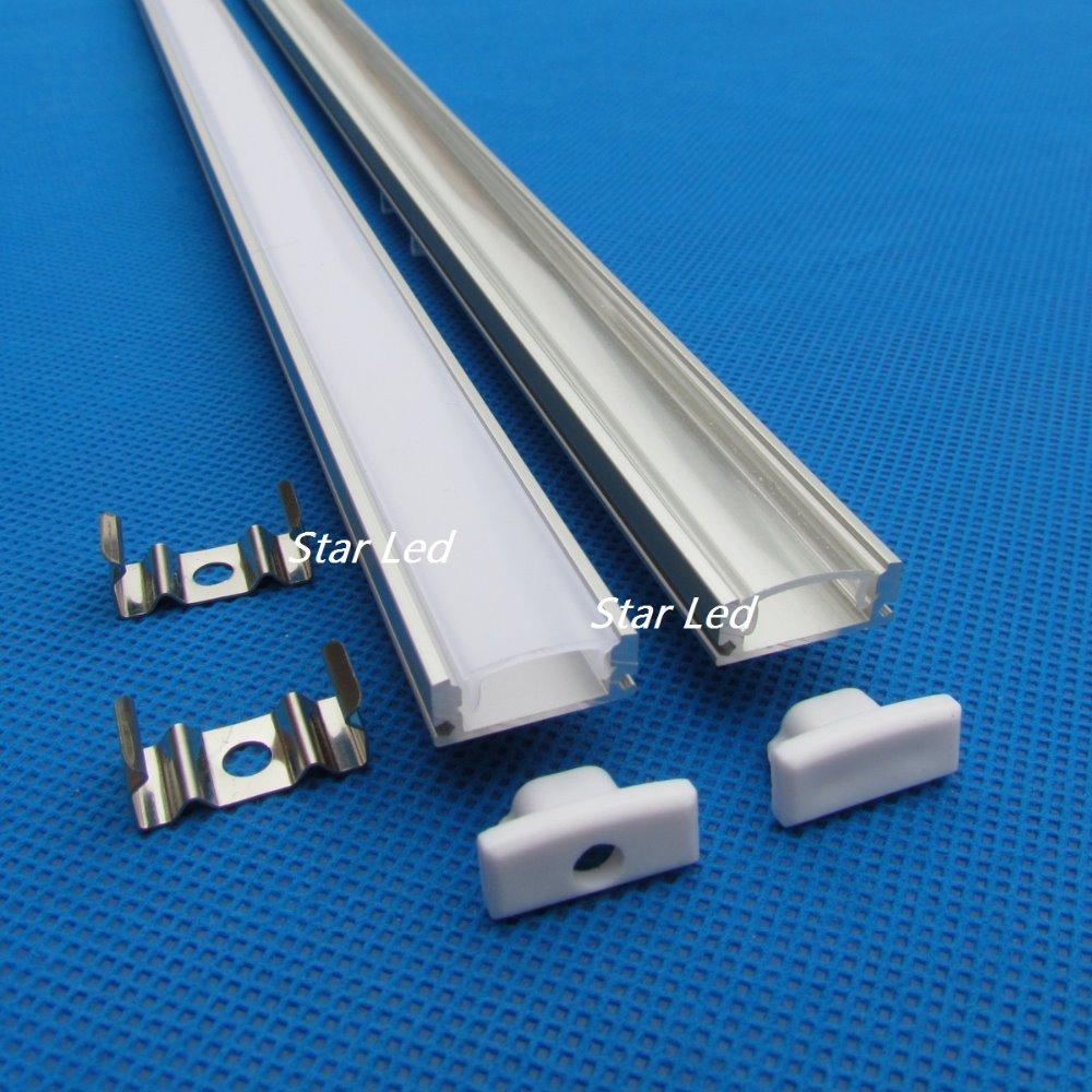 10pcs/lot,20inch 0.5m long per piece QC1807B-0.5M Led aluminum profile channel led aluminum extrusion(China (Mainland))