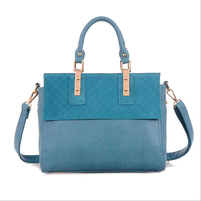 VEEVAN 2016 High-capacity ladies handbags Designer brand women shoulder messenger bag Fashion patchwork PU leather tote bags(China (Mainland))