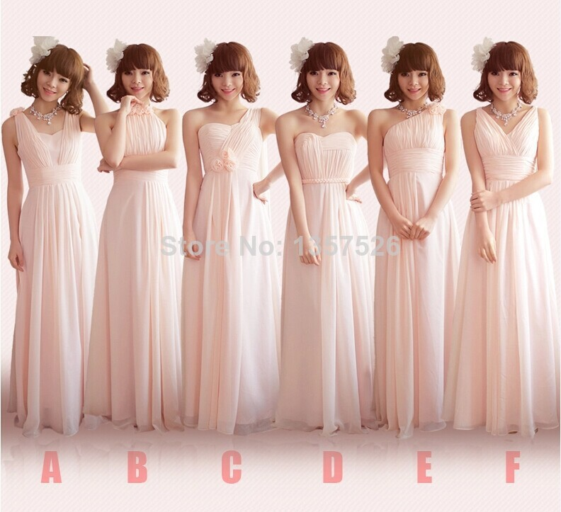 Bridesmaid dresses different style same color - Fashion dresses