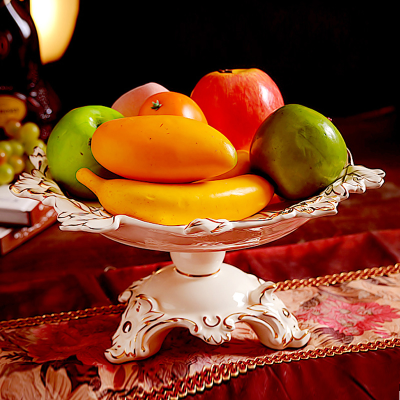 Luxury home decoration ceramic decoration ivory porcelain for Apples decoration for home