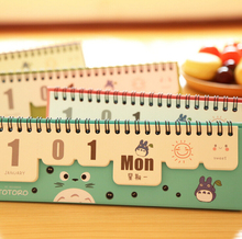 Year 2016 Cute My Neighbor Totoro Desktop Paper Calendar dual Daily Scheduler Table Planner Yearly Agenda Organizer(China (Mainland))