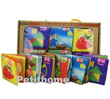 Book gift box , set of 6 books , cloth book , baby learning Chinese book , festival gift ( age 0 - 3 )(China (Mainland))