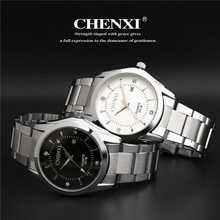 drop shipping brand chenxi waterproof watches women men gifts stainless steel couples Automatic calendar wristwatches CX-021B - junda store