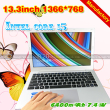 EMS free shipping 13.3inch ultrathin laptop note book net book intel core 4 i5 4200u 2G 64G computer manufactory