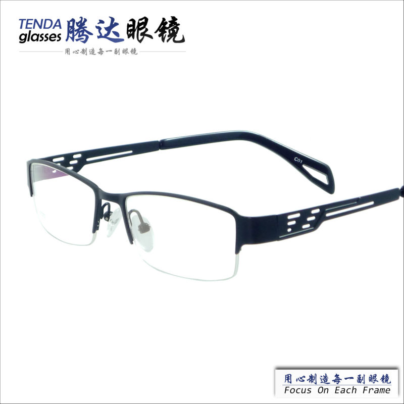 new arrival designer half-rim cheap men glasses frames for prescription lens(China (Mainland))