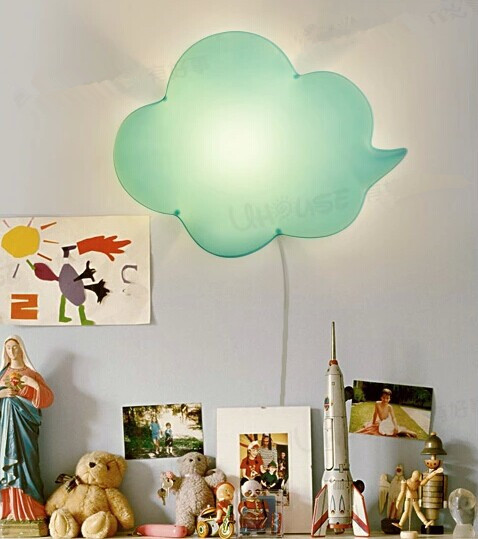 Compare Prices on Modern Kids Wall Lamp- Online Shopping/Buy Low ...:Light Green Cloud lovely creative Acrylic LED wall lamp for kids bedroom  baby room night lamp,Lighting