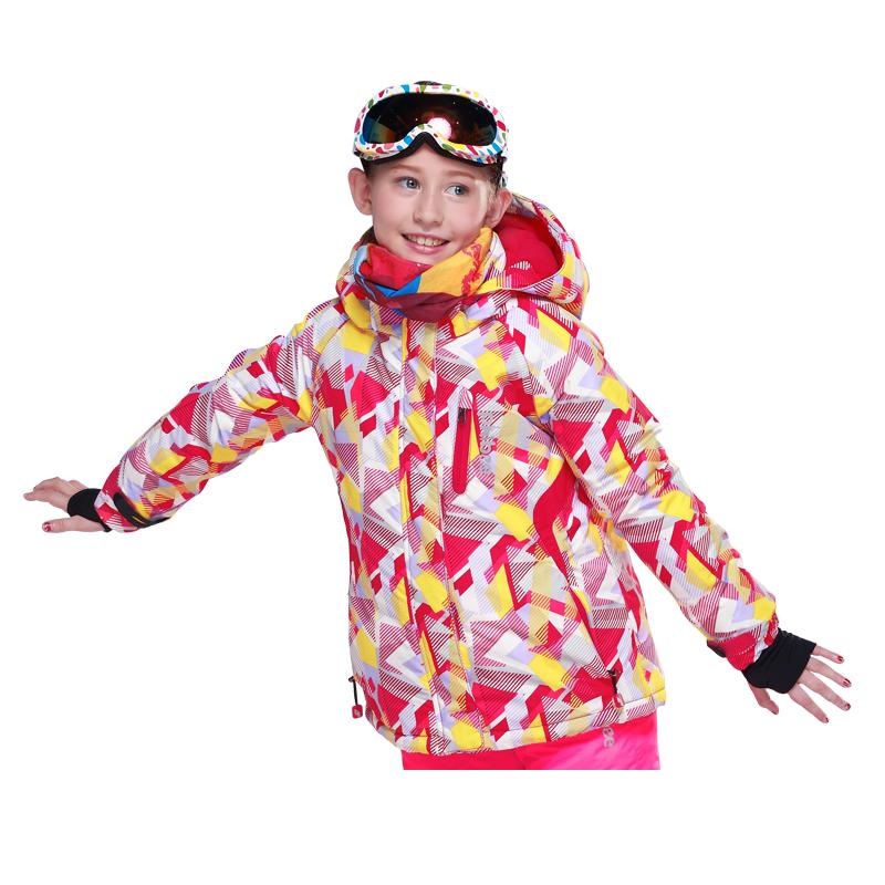 Phibee Kids Ski Jackets Girls Snowboard Jacket Children Outdoor Jacket Mountaineering Thick Warm -30 degree(China (Mainland))