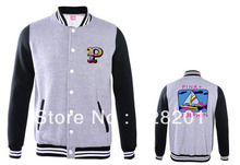 Pink dolphin pink south coast of male baseball uniform outerwear autumn and winter color block decoration baseball clothing(China (Mainland))