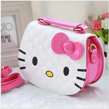 2016 New designers mini cute bag children hello kitty Bowknot handbag kids tote girls Shoulder Bag mini bag wholesale(China (Mainland))