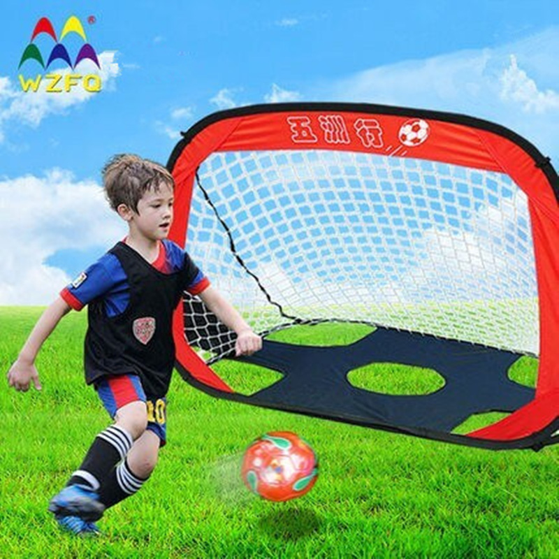 2016 New Football Game Toy 2 in 1 Football Gate Kids Toys Birthday Gifts Portable Outdoor Games Waterproof Foldable Soccer Goals(China (Mainland))