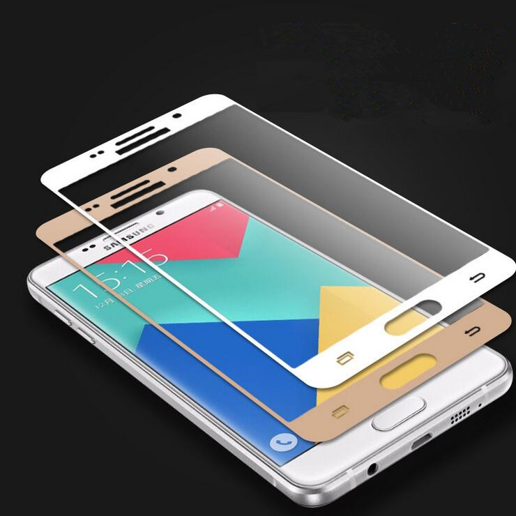HP02 3D Curved Edge Full Cover Premium Tempered Glass Screen Protector for Samsung Galaxy A5 2016 A5100 A7 2016 Protective Film(China (Mainland))