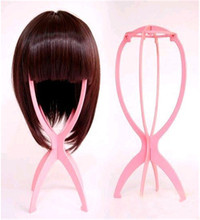 2 PCS / Lot Top Quality Head Hat Cap Holder Plastic Wigs Stand Display Tool Hair Accessories Portable Folding Wig Stands(China (Mainland))