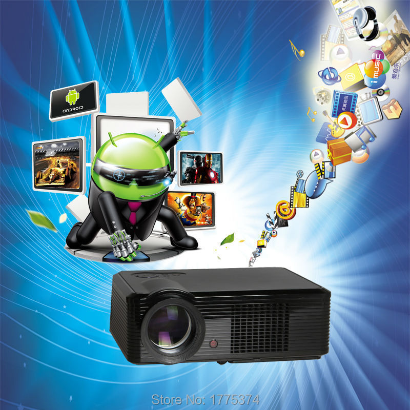 Factory direct sale Free gift HD Projector Proyector LCD Home Theater TV Beamer LED Projektor Input HDMI/USB/VGA/TV 2000Lumens(China (Mainland))
