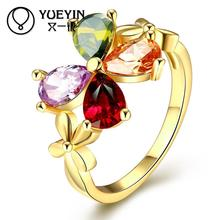 Buy rose gold color rings women CZ stone rings aneis de ouro Free Wholesale Retail Christmas gifts for $1.22 in AliExpress store