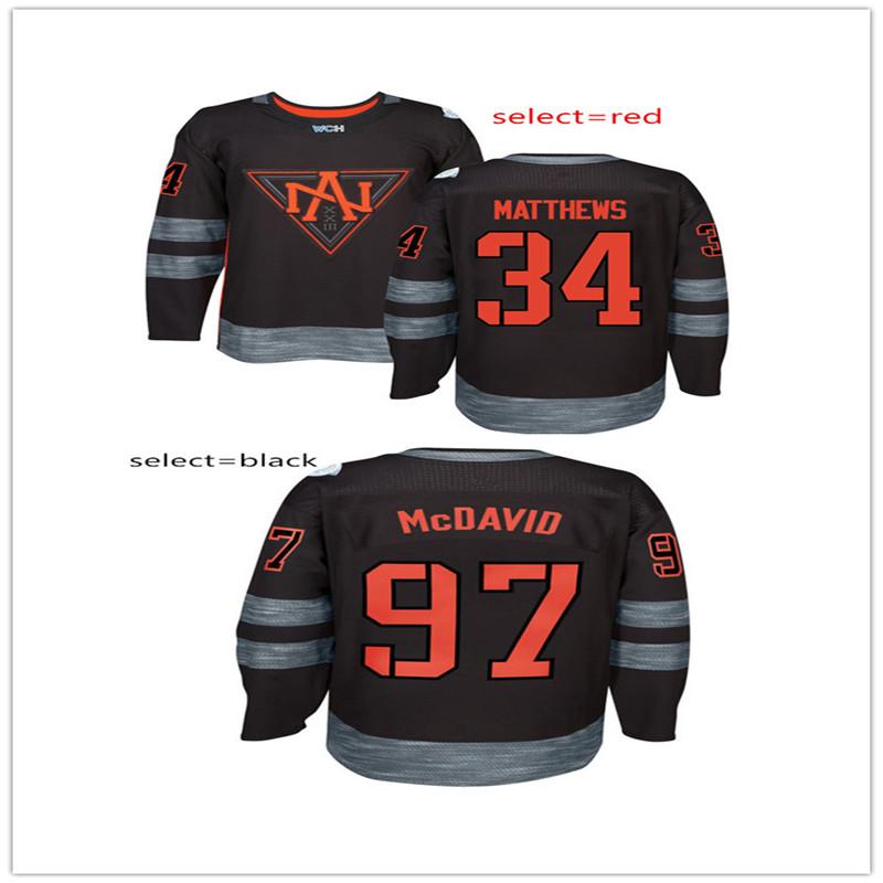 Hombres 2016 WCH #97 Connor McDavid #34 Matthews Auston Copa Del Mundo De Camisetas de Hockey(China (Mainland))