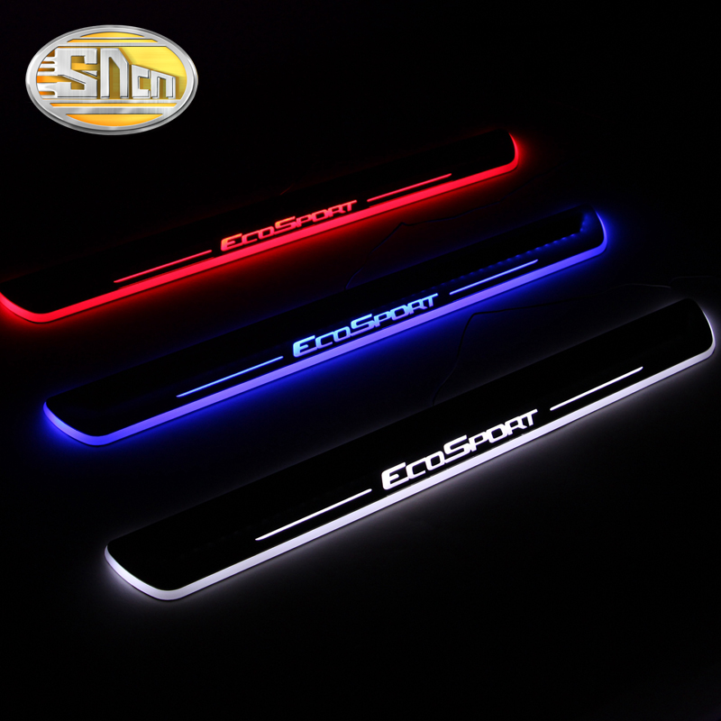 High Quality Acrylic LED Welcome Scuff Plate Pedal Door Sill For Ford Ecosport 2013 2014 2015, 2pcs Front Door<br><br>Aliexpress