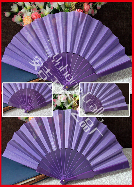 Free shipping 50pcs/lot Spanish style fabric folding fan souvenir gifts with many colors for choise