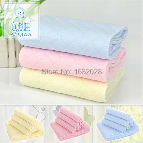 Reusable Baby Cloth Diaper Nappy Liners Inserts 3 Layers Washable Diapers Cover Cotton Unisex Disposable P - Child Fashion Supermarket store