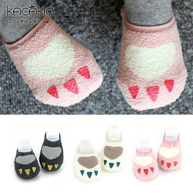 Розничные детские дети мода мультфильм ватки носки дети противоскользящих носок 3492