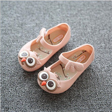 summer hot sale baby jelly shoes cute owl animal prints 5 colors rubber soft sole shoes 2016 infant toddler shoes(China (Mainland))
