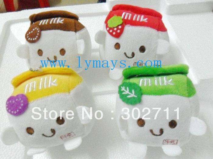 Cute NEW jumbo milk plushes (M) car pendant,plush pendant,bag pendant,cell phone charm Free shipping!Wholesales(China (Mainland))