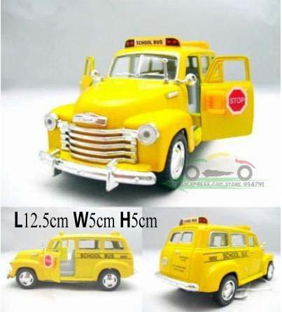 Mini Kids Toys Car Classic Vintage Alloy Car Model Wholesale Free Shipping 1:36 Chevrolet Suburban 1950 School Bus Pull Back(China (Mainland))