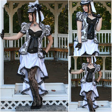 Freeship customer-made Cosplay Renaissance Dress Vintage Costumes Victorian Dress Steampunk dress Gothic Halloween Dress C-473