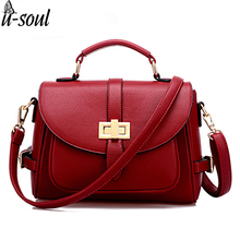 Buy Women Bag Casual Women Leather Handbags Female Medium Women Shoulder Bags Famous Brands Women Messenger Bag Tote Bags huh09 for $23.39 in AliExpress store