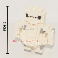 7.5cm 3inch Baymax Diamond Blocks Big Hero 6 Blocks BayMax DIY Building Blocks Nanoblocks Children Toys Gifts Free Shipping