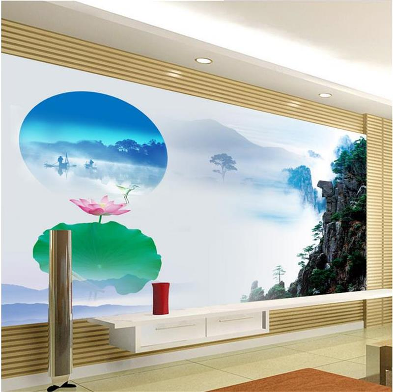 3d room wallpaper custom mural non-woven wall sticker China landscape painting TV background wall photo wallpaper for walls 3d(China (Mainland))
