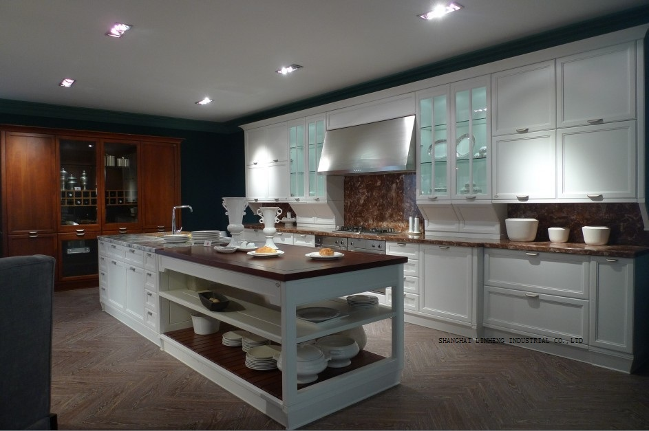 classic best-selling cream colored kitchen cabinets(LH-SW066)(China (Mainland))
