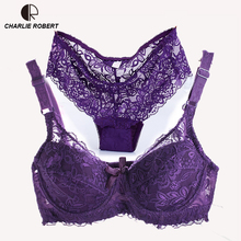 Buy CR Sexy Lingerie Lace Bra Set Plus Size Cup C Transparent Luxurious Brief Push Bra Brand Designer Underwear WI483 for $11.29 in AliExpress store