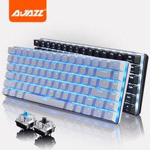 Ajazz geek AK33 backlignt edizione tastiera meccanica interruttore blu gaming tastiere per tablet desktop hot originale(China (Mainland))