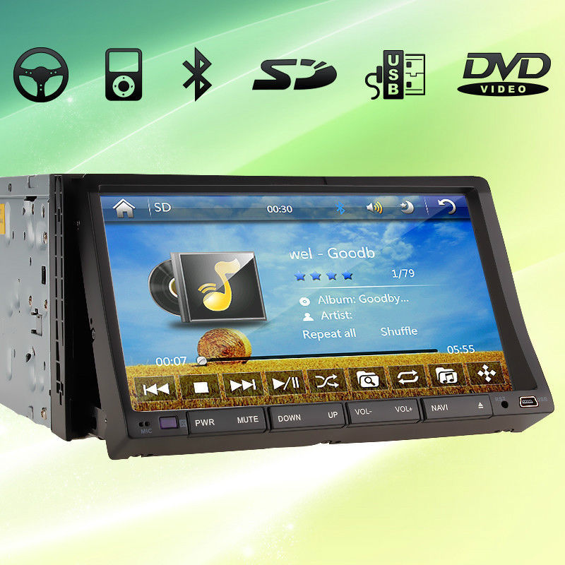 "New Gen 2 Din 7"" Indash Car DVD Player double din Car Audio radio GPS SAT Navigation Car DVD player Ipod Bluetooth TV+Map+Camera(China (Mainland))"