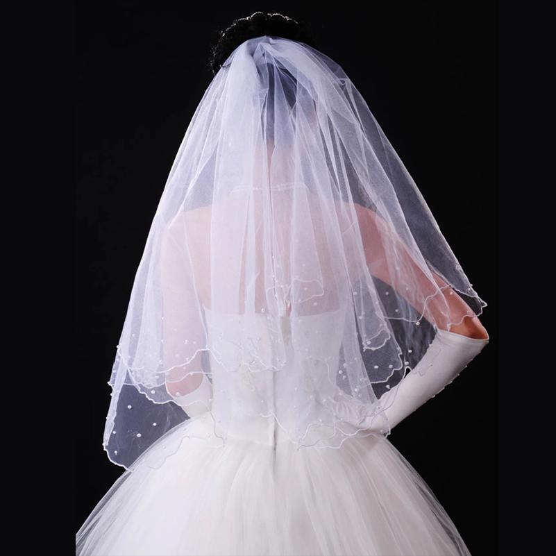 2015 Fashion Wedding Veil One Layer Short Wedding Veil