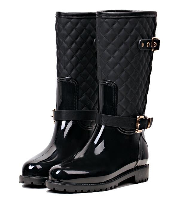 Cool BengC RW060 Sneaker Style High Top Womens Rubber Rain Boots  You Can Find Out More Details At The Link Of The Image Paperplanes1193 Trendy Long Wellington Garden Rain Boots Orange Women 75  This Is An Amazon