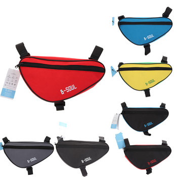 2016 Newest Cycling Bicycle Front Tube Frame Bag Waterproof Outdoor Mountain Bike Pouch Pannier MTB Saddle Bag
