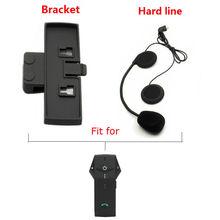 Free Shipping! Hard Line Earpiece Headset+Bracket Clip For COLO NFC Bluetooth Intercom Headsets(China (Mainland))