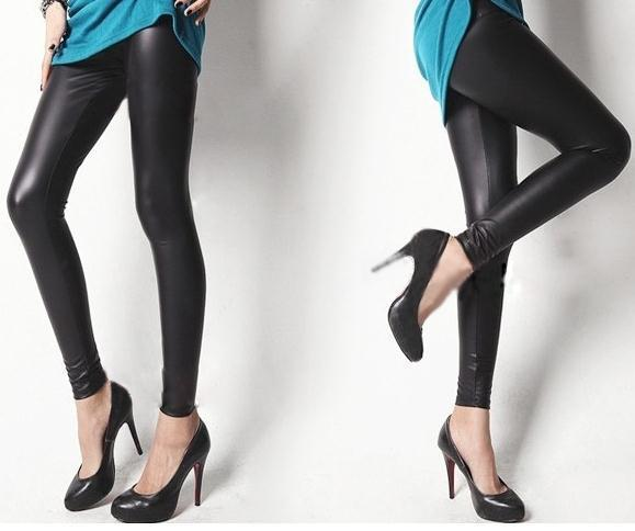 2013 Spring fashion BLACK matt imitation leather PU leggings/sexy leggings/ star style