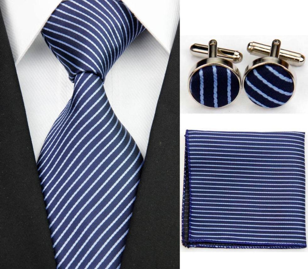 SNT0110 Free Shipping Wholesale Striped Ties For Men Polyester Set 9 5cm Wide Woven Ties Set