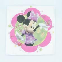 10 ชิ้น/ล็อต Minnie Mouse Party Supplies พลาสติกทิ้งมีด/ส้อม/ช้อน(China)