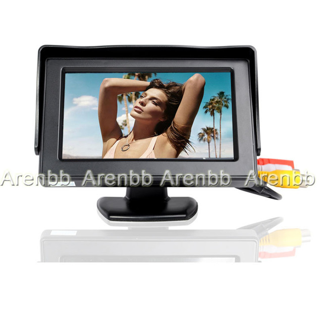 4.3Inch car hd Monitors lcd on dashboard installation car for car rear/front view backup car monitor