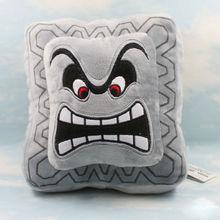 "New Super Mario Bros 9"" Thwomp Dossun Character Pillow Plush Toy Cushion Doll(China (Mainland))"