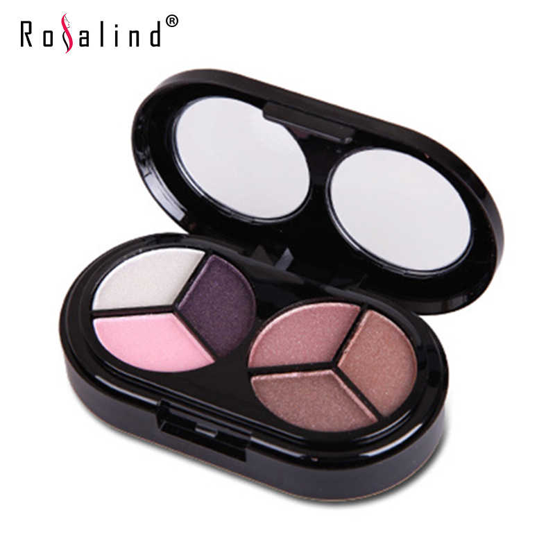 Rosalind Brand Makeup 6 Colors Eye Shadow Palette Party Wedding Cosmetics Free Shipping(China (Mainland))