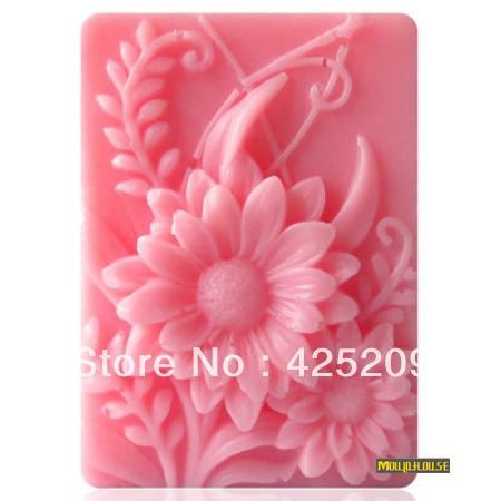 supernova sale new 2015 3D silicone soap mold, plants flower  mould,fondant molds,silica gel mould,silicon mold mould  wholesale