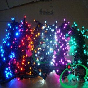10M 100pcs Yellow led christmas light/ led christmas string light/AC110V or AC 220V/Waterproof