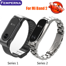 Metal Strap For Xiaomi Mi Band 2 Bracelet Belt For Xiaomi Miband 2 Strap Replacement OLED Display Wristbands Black Silver Golden(China (Mainland))
