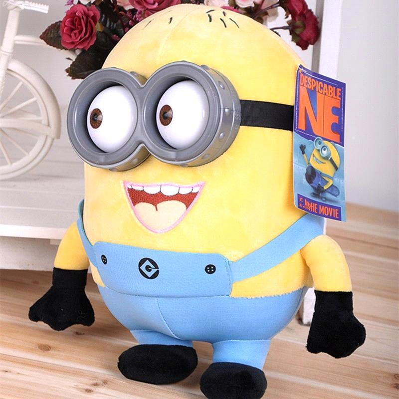 In Stock 4 Sizes Despicable Me Creative Minion Toys 3D Eyes Plastic Eyes Yellow Doll Soybeans Doll Plush Toys Best Gift For Kids(China (Mainland))